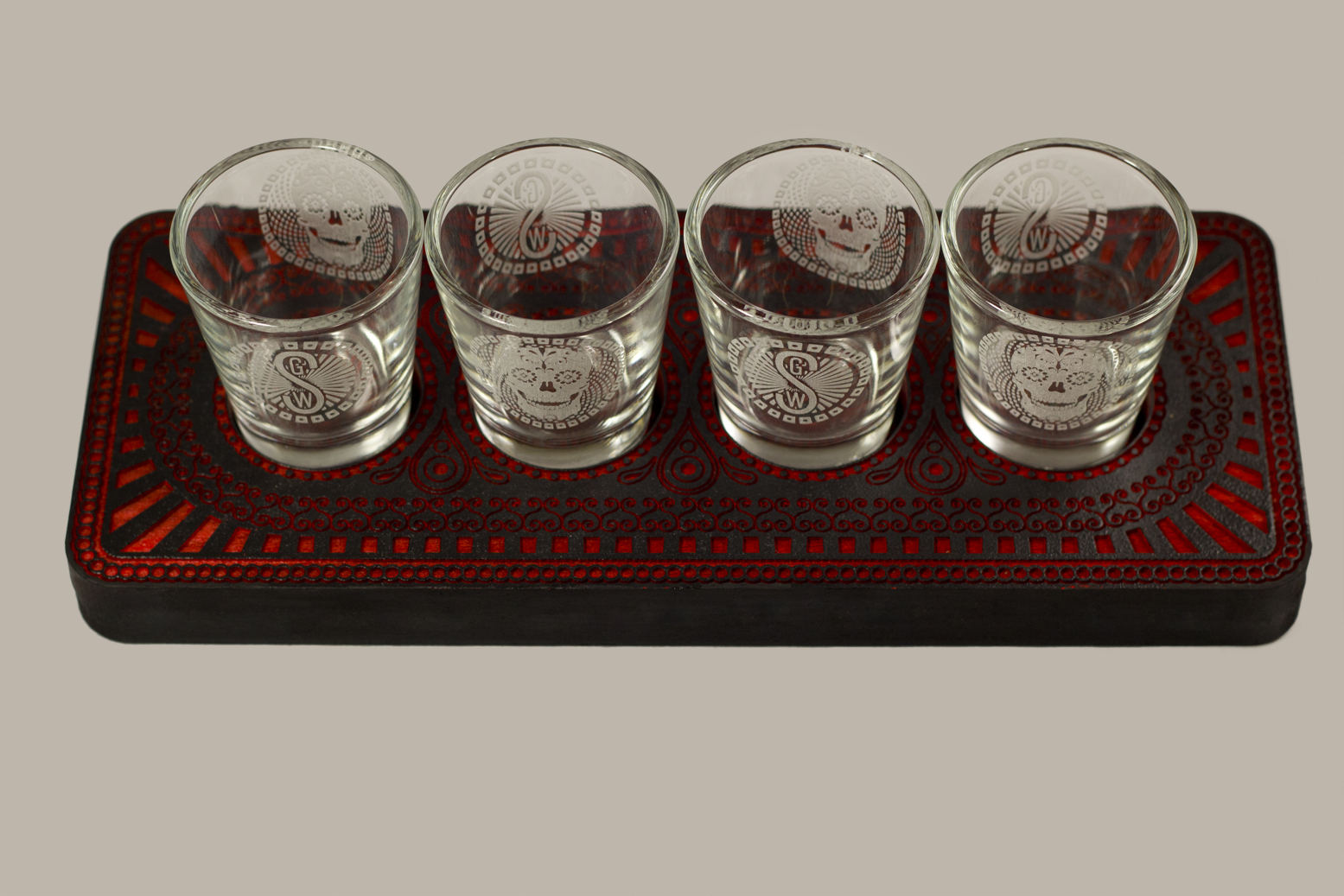 Good Wood shot glass holders