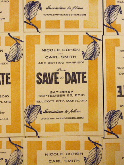 Smith Cohen Save the Date card